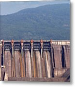 Hydroelectric Power Plants On River Industry Metal Print