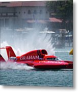 hydroplane racing boat on the Detroit river Metal Print