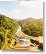 Hydropower Valley River Metal Print