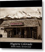 Hygiene Colorado Bw Fine Art Photography Print Metal Print