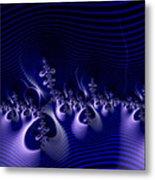 Hypnotique Blue Metal Print