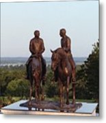 Hyrum And Joseph Smith Equestrian Bronze Monument At Nauvoo Illinois Metal Print
