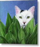 I Can See You, But... Metal Print by Peggy Dreher