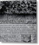I Hate War Metal Print
