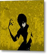 I Have A Hunch...yellow Metal Print