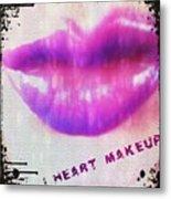 I Heart Makeup Metal Print