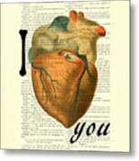 I Heart You Metal Print