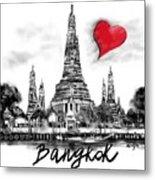 I Love Bangkok Metal Print