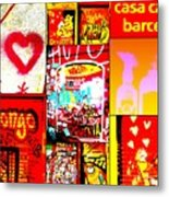 I Love Barcelona Metal Print