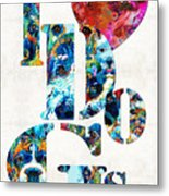 I Love Dogs By Sharon Cummings Metal Print