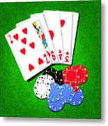 I Love Poker Metal Print
