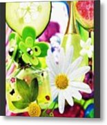 I Love Spring_with Border Metal Print