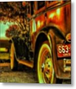 I Love This #classiccar Photo I Took In Metal Print by Pete Michaud