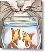 I Loves Fishes Metal Print
