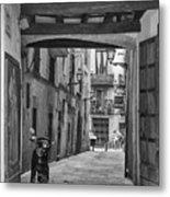 Barcelona Alleys Metal Print