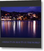 I Reflect On Beauty Of The World Metal Print