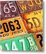I Run Across A Lot Of Plates Too Old Metal Print