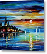 I Saw A Dream - Palette Knife Oil Painting On Canvas By Leonid Afremov Metal Print