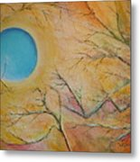 I Saw You Standing Alone Metal Print