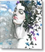 I Wanted That The Problems Had Wings Metal Print