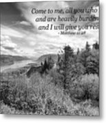 I Will Give You Rest Metal Print