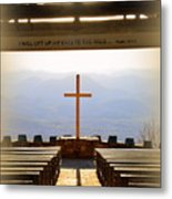 I Will Lift My Eyes To The Hills Psalm 121 1 Vertical 2 Metal Print