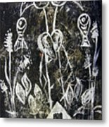 Ibis Fish And Water   A Trinity Metal Print