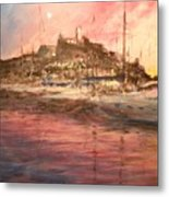 Ibiza Old Town At Sunset Metal Print