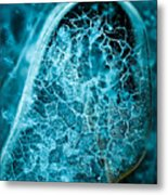 Ice Abstract Deep Blue Metal Print