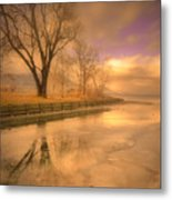 Ice And Light Metal Print