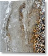 Ice And The Beach Two  Metal Print