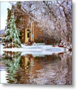 Ice Attack - Paint Metal Print