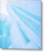 Ice Covered Mountains Good For Ice Climbing Metal Print
