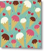 Ice Cream Cones Metal Print
