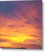 Ice Cream Sunset Two Metal Print