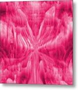 Ice Crystal Angel - Pink Metal Print