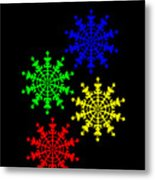 Ice Crystal Metal Print