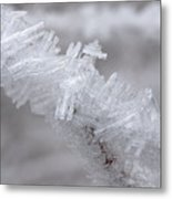 Ice Crystals Metal Print