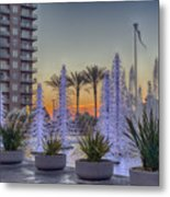 Ice Cycles At Sunset Metal Print