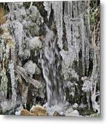 Ice Droplets  Metal Print