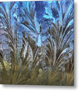 Ice Feathers Metal Print