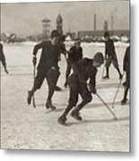 Ice Hockey 1912 Metal Print