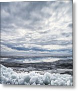 Ice On Lake Nipissing Metal Print