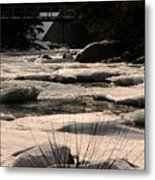 Ice On The Pemigewassett Metal Print
