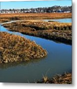 Ice On The Saltmarsh  Metal Print
