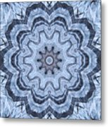 Ice Patterns Snowflake Metal Print