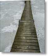 Ice Pier Metal Print