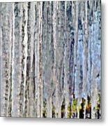 Ice Sickle Curtains Metal Print