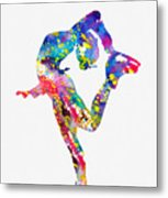 Ice Skater-colorful Metal Print