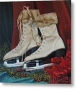 Ice Skates And Mittens Metal Print